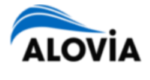 Alovia Logo with a link to their website.
