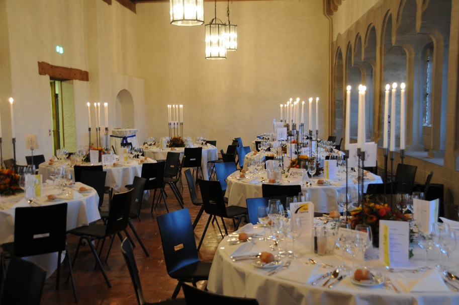 Photo of the hall in Lenzburg Castle of the 20th anniversary celebration of Object Engineering GmbH