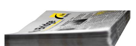 Grossaufnahme von einem Stapel Info Bridge. Mit einem Link auf die Startseite.